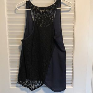 Patterson J. Kincaid Tops - Black and blue silk tank